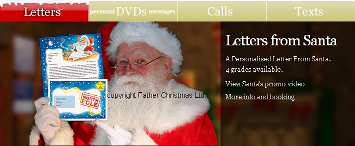 click here for personalised letters phone calls dvds and text messages from santa